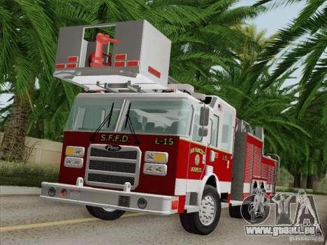 Pierce Aerials Platform. SFFD Ladder 15 für GTA San Andreas Innen