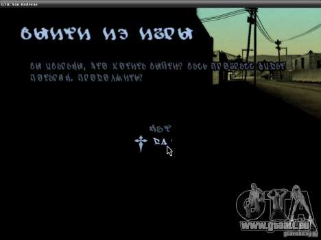 Die Schriftart der NFS-MW-v2 für GTA San Andreas neunten Screenshot