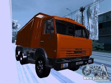 KAMAZ 54115 LKW für GTA San Andreas Rückansicht