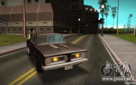 Plymouth Barracuda Formula S pour GTA San Andreas vue de droite