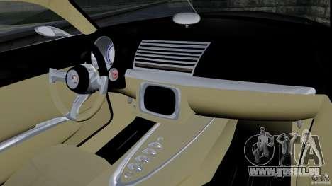 Holden Efijy Concept pour GTA 4 est une vue de l'intérieur