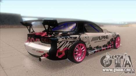 Mazda RX-7 FD K.Terej pour GTA San Andreas vue de droite