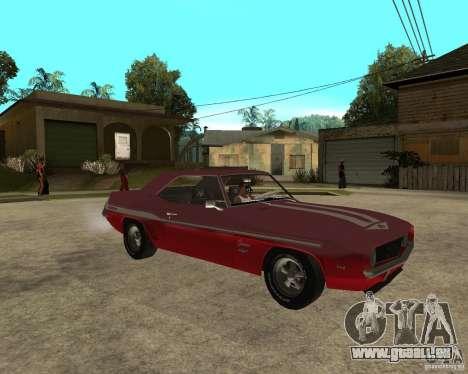 1969 Yenko Chevrolet Camaro pour GTA San Andreas vue de droite