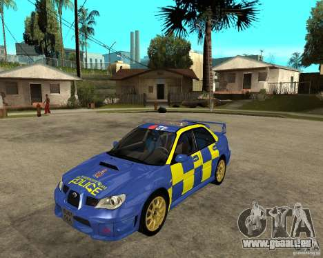 Subaru Impreza STi police für GTA San Andreas