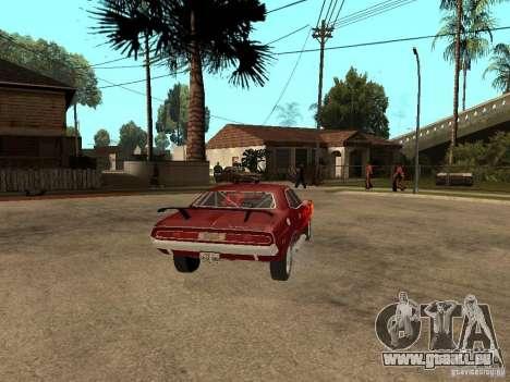 Dodge Challenger Tuning pour GTA San Andreas sur la vue arrière gauche