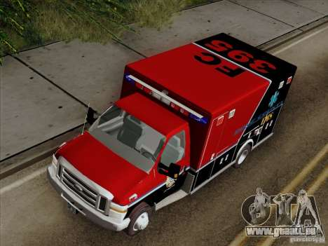 Ford E-350 AMR. Bone County Ambulance für GTA San Andreas Rückansicht
