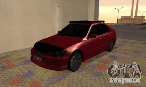 Lexus IS300 pour GTA San Andreas vue arrière