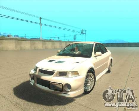 Mitsubishi Lancer Evolution VI 1999 Tunable für GTA San Andreas rechten Ansicht
