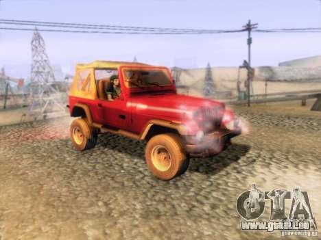 Jeep Wrangler 1994 pour GTA San Andreas vue de droite