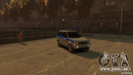 Land Rover Range Rover Police pour GTA 4 est un droit