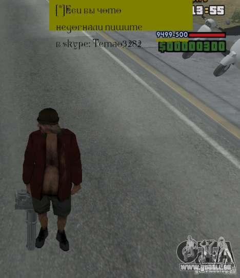 Weapon hacks pour GTA San Andreas quatrième écran