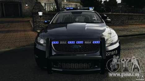 Ford Taurus 2010 Atlanta Police [ELS] pour GTA 4 vue de dessus