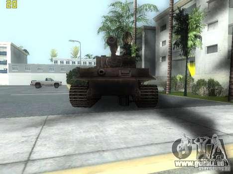 Tiger pour GTA San Andreas laissé vue