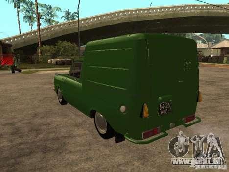 Première version IZH 2715 pour GTA San Andreas sur la vue arrière gauche
