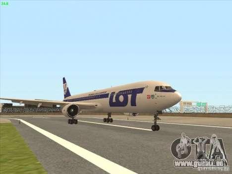 Boeing 767-300 LOT Polish Airlines pour GTA San Andreas laissé vue