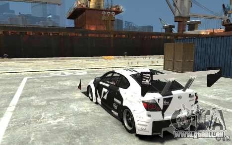 Scion tC AWD V1.0 für GTA 4 hinten links Ansicht