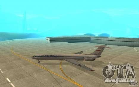 Aeroflot Il-62 m pour GTA San Andreas sur la vue arrière gauche