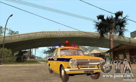 GAZ Volga 2401 Police pour GTA San Andreas vue arrière