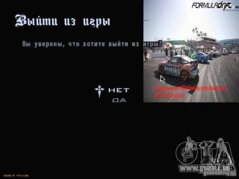 Formule menu de style Drift pour GTA San Andreas