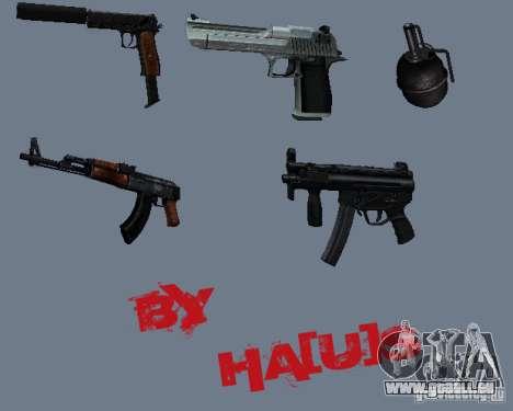 Pak armes v0.1. pour GTA San Andreas