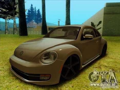 Volkswagen New Bettle 2013 Edit pour GTA San Andreas laissé vue