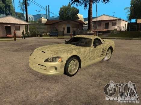 Dodge Viper für GTA San Andreas obere Ansicht
