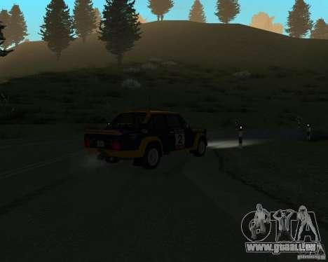 Fiat 131 Rally für GTA San Andreas Innenansicht
