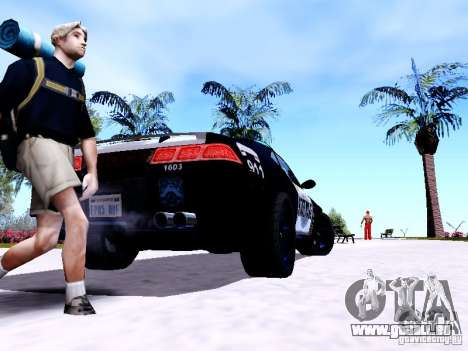 NFS Undercover Cop Car MUS für GTA San Andreas zurück linke Ansicht