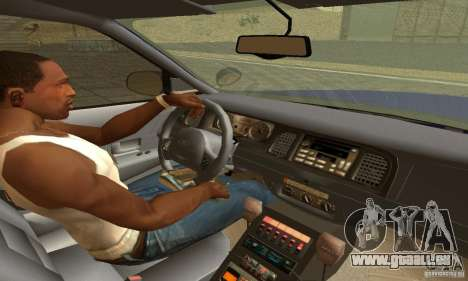 Ford Crown Victoria New York Police für GTA San Andreas zurück linke Ansicht