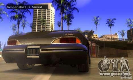 New Banshee [HD] für GTA San Andreas Rückansicht