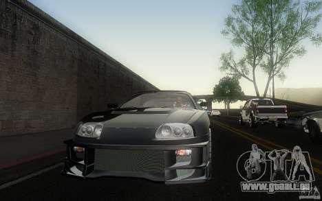 Toyota Supra Chargespeed pour GTA San Andreas vue de côté