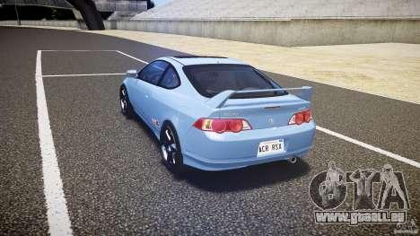 Acura RSX TypeS v1.0 Volk TE37 pour GTA 4 Vue arrière de la gauche