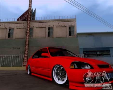 Honda Civic 16 LK 664 pour GTA San Andreas sur la vue arrière gauche