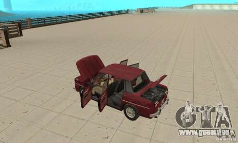 Dacia 1100 pour GTA San Andreas vue intérieure
