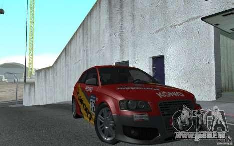 Audi S3 Tunable für GTA San Andreas Rückansicht