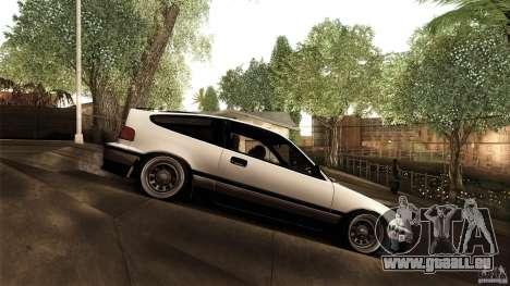 Honda CRX JDM pour GTA San Andreas laissé vue
