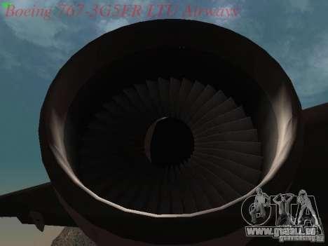 Boeing 767-3G5ER LTU Airways pour GTA San Andreas vue intérieure