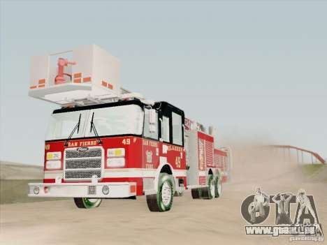 Pierce Rear Mount SFFD Ladder 49 pour GTA San Andreas salon