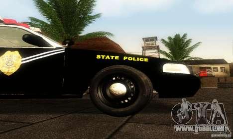 Ford Crown Victoria New Mexico Police pour GTA San Andreas vue de droite