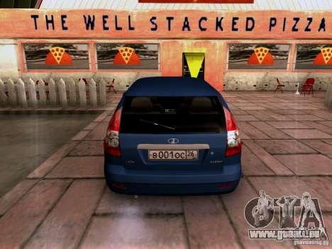 Lada Priora Limousine für GTA San Andreas zurück linke Ansicht