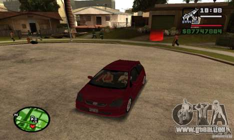 Honda Civic Type R stock für GTA San Andreas linke Ansicht