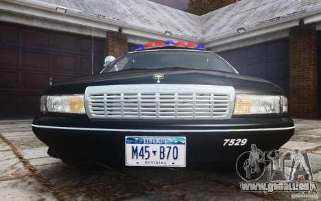 Chevrolet Caprice 1991 Police pour GTA 4 vue de dessus