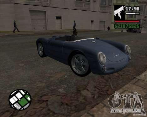 Porsche 550 für GTA San Andreas Rückansicht