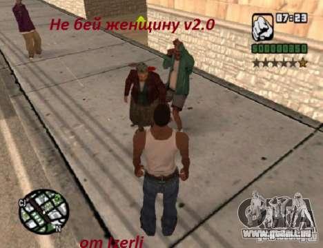 Vous ne pouvez pas battre les femmes 2.0 pour GTA San Andreas quatrième écran