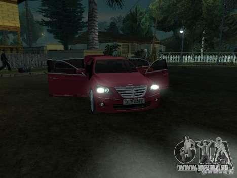 Hyundai Genesis für GTA San Andreas Innenansicht