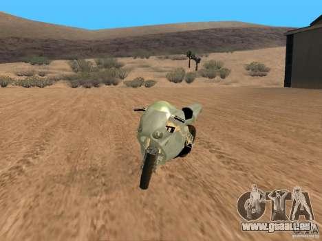 Turbine Superbike pour GTA San Andreas vue arrière