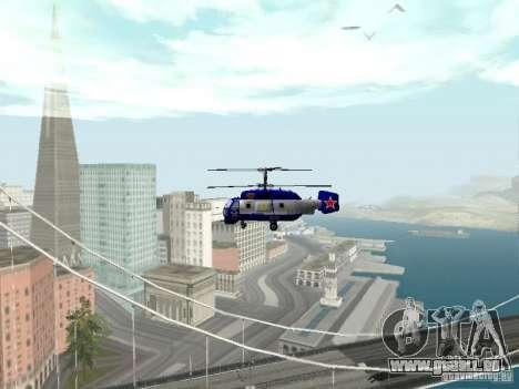 Ka-27 pour GTA San Andreas vue intérieure