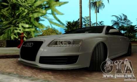 Audi RS6 2009 pour GTA San Andreas vue de dessous