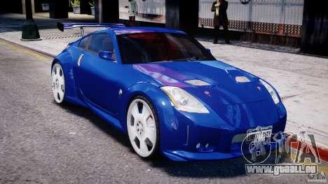 Nissan 350Z Veilside Tuning pour GTA 4 est une vue de dessous