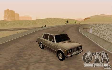 VAZ 2106 Drain für GTA San Andreas obere Ansicht